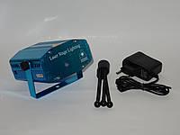 Мини лазерный проектор стробоскоп лазер шоу 6 в 1