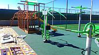 Бесшовное резиновое покрытие для детской площадки, 15 мм, фото 1