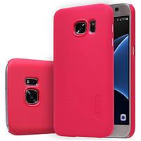 Накладка Nillkin Frosted Samsung S7 (+пленка) Red