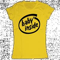 """Футболка для беременных с приколами """"Baby Inside"""""""