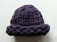 Шапка из шерсти мериноса Фиолетовый