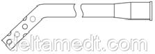 Дренаж торакальный (угол изгиба 45 градусов) D 4mm