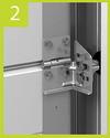 Роликовые кронштейны для секционных ворот серии Standard