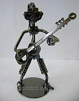 """Техно-арт статуэтка """"Гитарист"""" металл"""