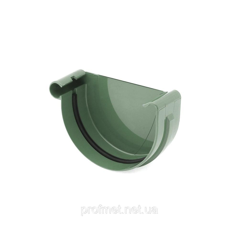 Заглушка желоба левая для водостока Bryza 125 мм пластиковый