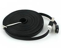 Плоский дата кабель USB micro-USB 3 метра FNX