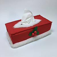 Чехол для коробки с бумажными салфетками #3. Красный.