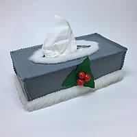 Чехол для коробки с бумажными салфетками #4. Серый.