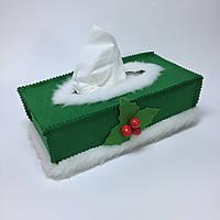 Чехол для коробки с бумажными салфетками #5. Зеленый.