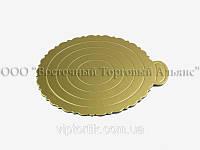 Подложка для торта ажурная большая -  Золото Ø28см, фото 1