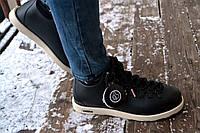 Мужские ботинки Native, черные / зимние ботинки мужские, высокие, материал ЭВА, очень теплые