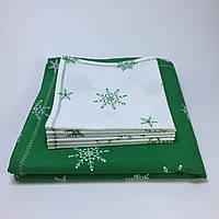 Комплект: Новогодняя скатерть на стол и 6 салфеток. 100% ручная работа.
