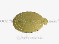 Подложка для торта ажурная малая -  Золото Ø25 см