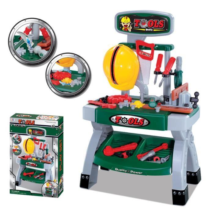 Детский игровой набор стол с инструментами. Super Tools Baby. Высота стола - 71 см.