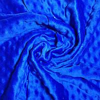 Плюш минки синего цвета 100*80см