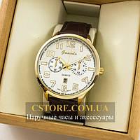 Мужские оригинальные часы Guardo gold white 04684g-0692, фото 1