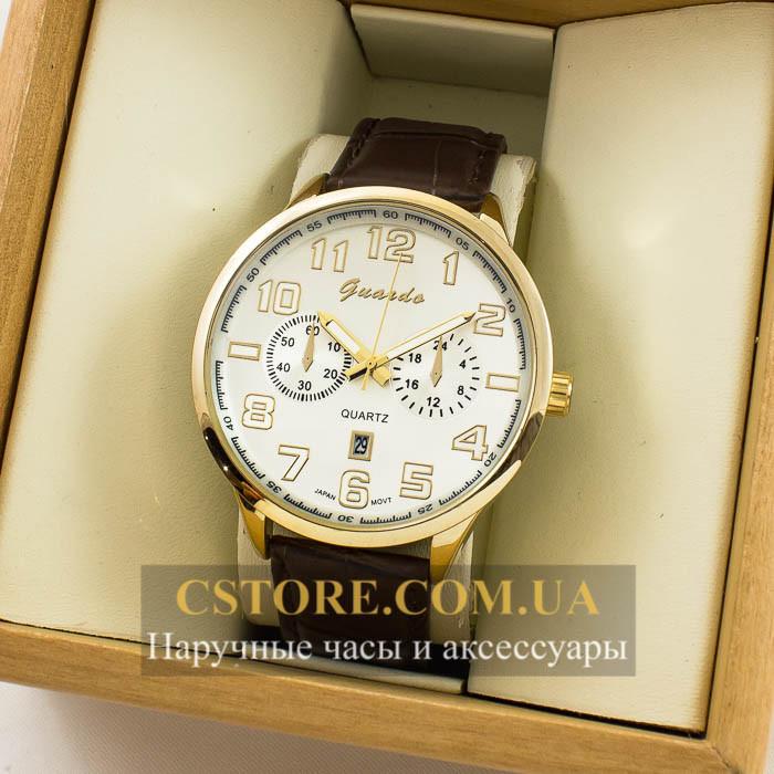 Мужские Оригинальные Часы Guardo Gold White 04684g-0692 — в ... 07348bc6701