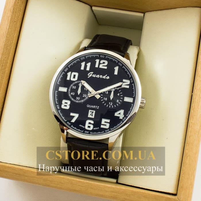 Мужские оригинальные часы Guardo silver black 04685g-0692