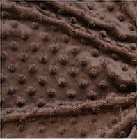 Плюш для пледов Минки коричневого цвета