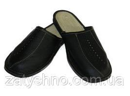 Тапочки кожаные мужские