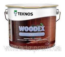 Антисептик масляный для деревесины, на водной основе, Текнос Вудекс Эко, 9 л