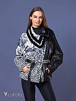 Куртка кожаная женская 11Z530-10 Zig Leopar Orkide Beige 48
