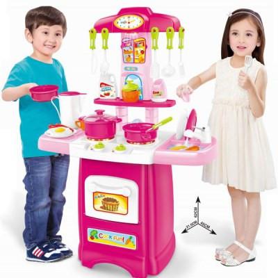 Кухня детская - свет, звук, течет вода. Высота 62 см. Реалистичная игровая кухня.