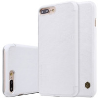 Кожаный чехол-книжка Nillkin Qin White для iPhone 7 Plus 8 plus