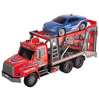 """DICKIE TOYS Автомобиль """"Автотранспортер"""" с воздушной помпой с легковым авто, 57 см"""