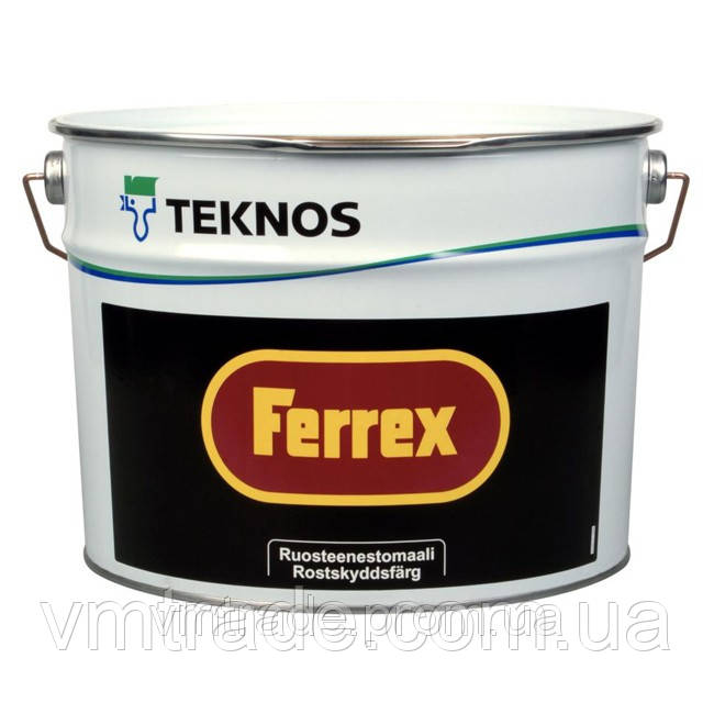 Антикоррозийная краска-грунт  Teknos Ferrex (Текнос Феррекс), 10л, красная