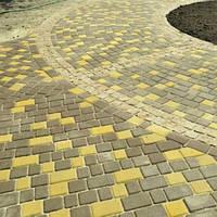 Тротуарная плитка Старый Город, коричневый