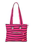 Подростковая сумка MONSTERS Tote / Beach, Pink Begonia & Black Teeth ТМ ZIPIT Розовый ZBZM-2