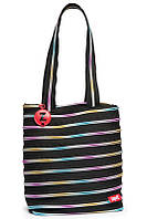 Подростковая сумка Premium Tote / Beach, Black & Rainbow Teeth ТМ ZIPIT Черный ZBN-8