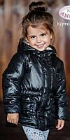 Демисезонная парка для девочки Baby Angel M 774, цвет черный