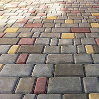 Тротуарная плитка Старый город, серая