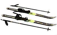 Лыжи беговые в комплекте с палками ZEL SK-1883-110А (l-лыж-110см, l-пал-90см, PVC чехол, крепл. нерег.)