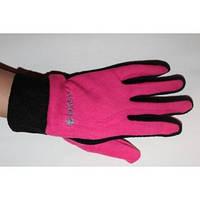 Перчатка женская флисовая розовая
