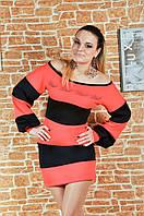 Женское платье Пчела 0801коралл