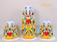 Набор свечей ручной работы к 14 февраля