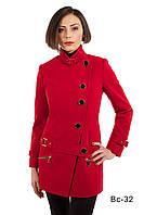 Модное женское пальто средней длины Вс-32 демисезонное