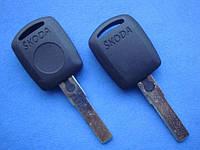 Skoda - заготовка ключа под чип, HU66