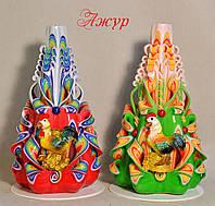 Новогодние свечи елочки с фигурками