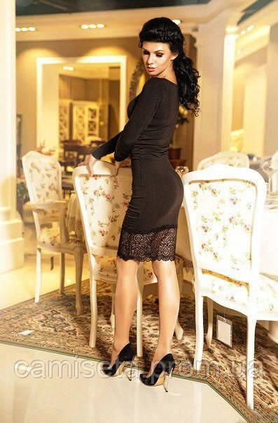 7e2cfa2fa4d Платье женское джерси с кружевом P5056: продажа, цена в Одессе ...