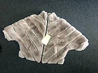 Женский полушубок из натурального меха кролик Рекс бежевый