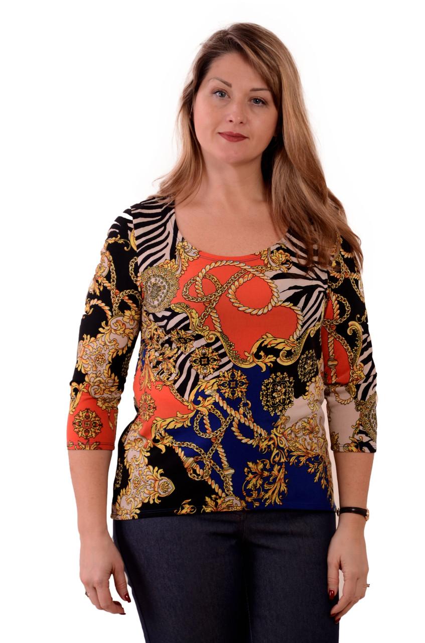 Свитшот цветной блузка нарядная трикотаж ВЕРСАЧИ - ТМ Nadtochy , Швейная фабрика  НАДТОЧИЙ в Черкассах