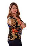 Свитшот цветной блузка нарядная трикотаж ВЕРСАЧИ, фото 2