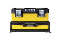 Ящик инструментальный 54x28x33 профи 2 секции, металлопластик (выдвижная секция 10см) желтый  STANLE