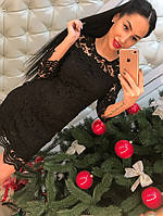 Женское стильное кружевное платье (2 цвета), фото 1