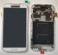 Дисплей + сенсор Samsung I9500 Galaxy S4 белый с передней частью