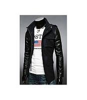 Мужская куртка, черного и графитного цвета, фото 1